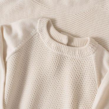 Boat neck knit / Crew neck knit