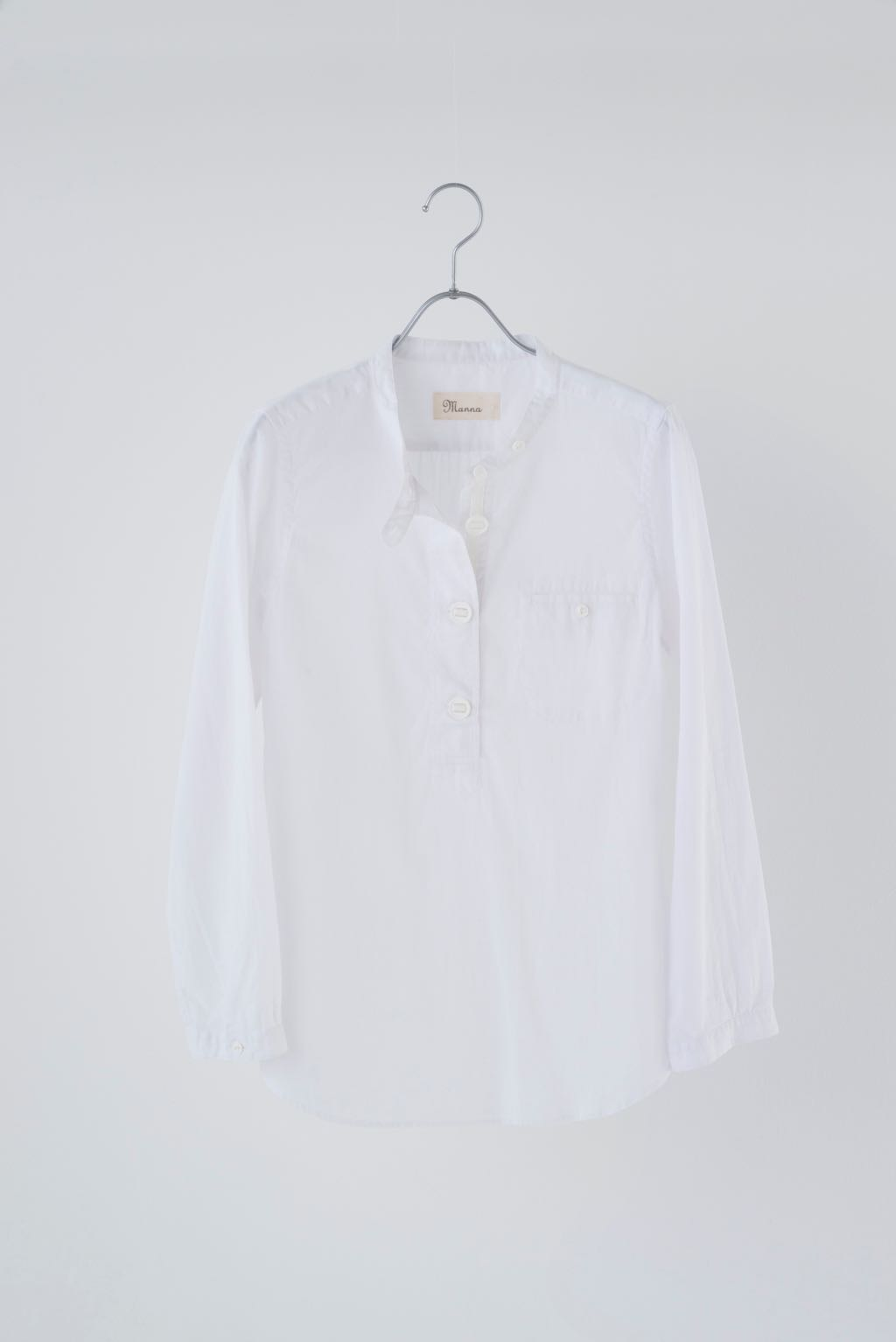 COTTON LINEN HENLY NECK SHIRT 174028 ¥15,000+tax