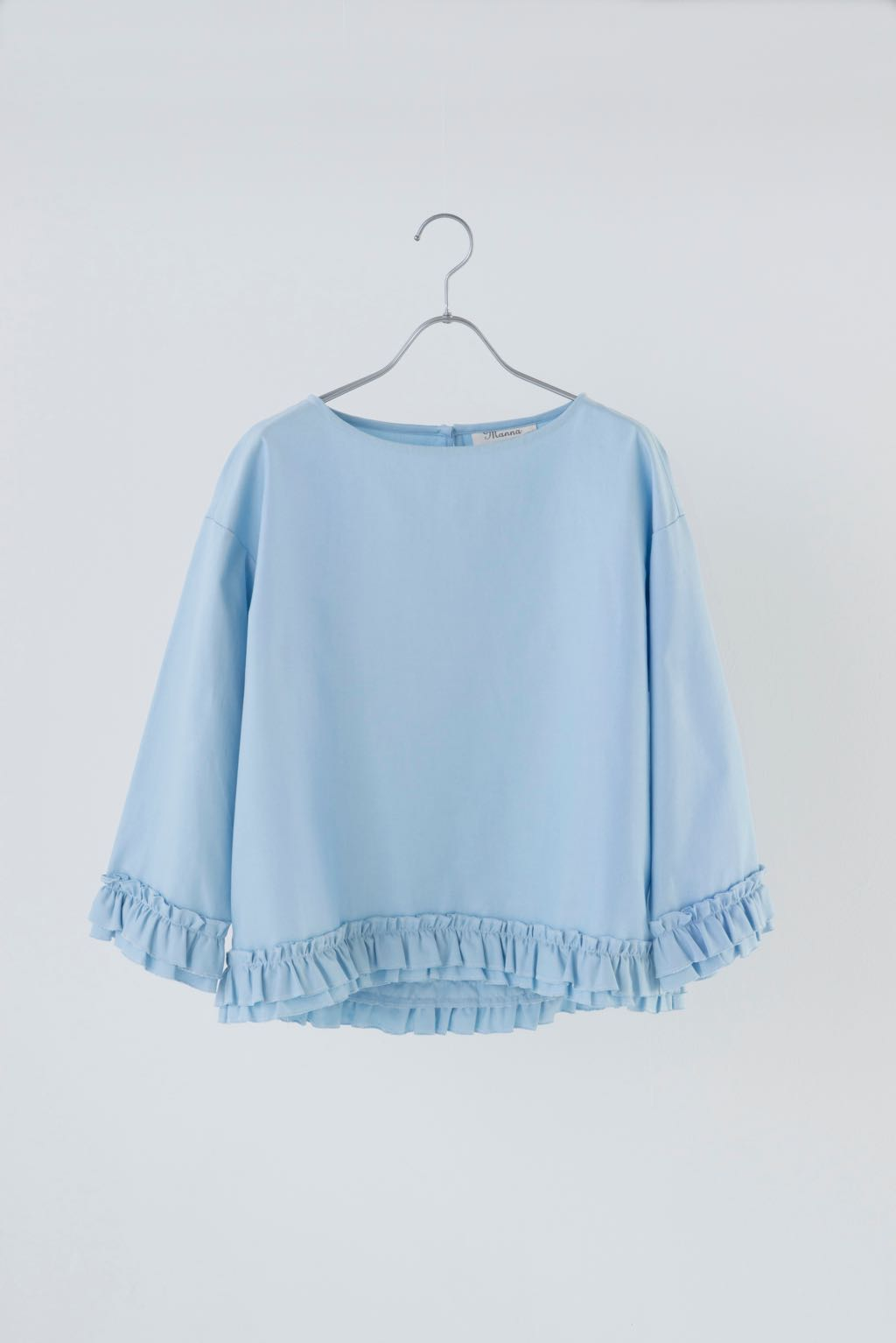 COTTON FRILL BLOUSE 164823 ¥16,000+tax