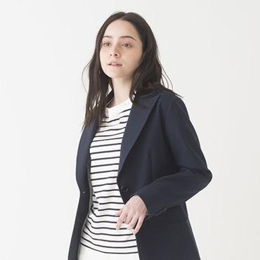 Jacket/Stripe top/White denim