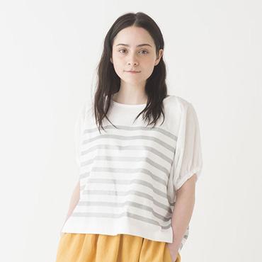 Stripe top/Long skirt