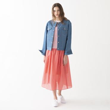 Denim jacket/Border tops/Boyle skirt