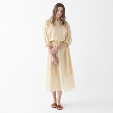 Gathered blouse/Boyle skirt