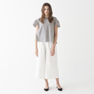 Stripe blouse/Wide pants