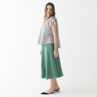 Frilly sleeeve blouse/Boyle skirt