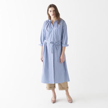 Stripe long dress/Work pants