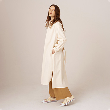 Organic cotton shirt coat/Cotton pants