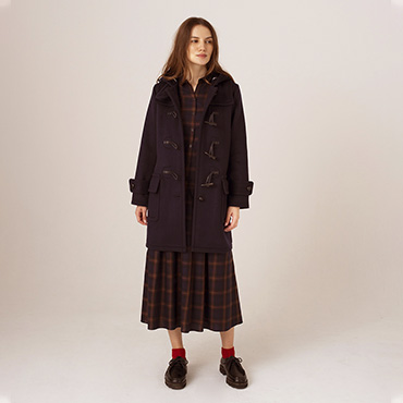 Duffel coat/tartan check shirt dress