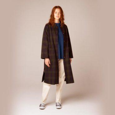 Coat / Wool knit / Cotton pants