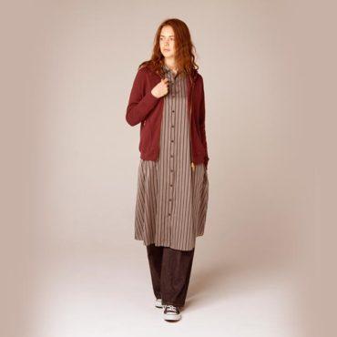 Zip perker / Shirt dress / Denim pants