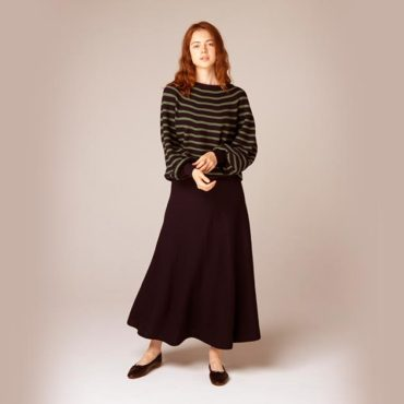 Border knit / Knit skirt