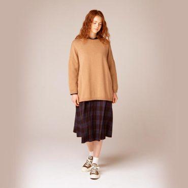 Wool knit / Tartan dress