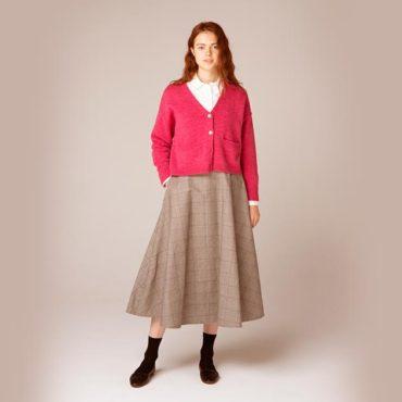 Cardigan / shirt / Circular skirt