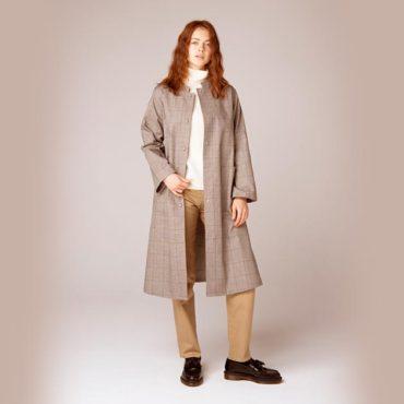 Coat / Turtleneck knit / Cotton pants