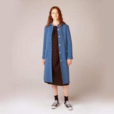 Knit coat / Black watch dress