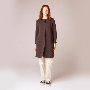 Knit coat / Cotton pants