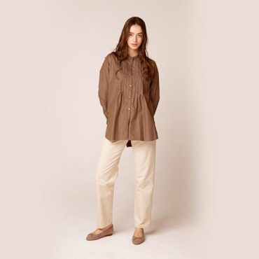 Pin tuck shirt / Cotton pants